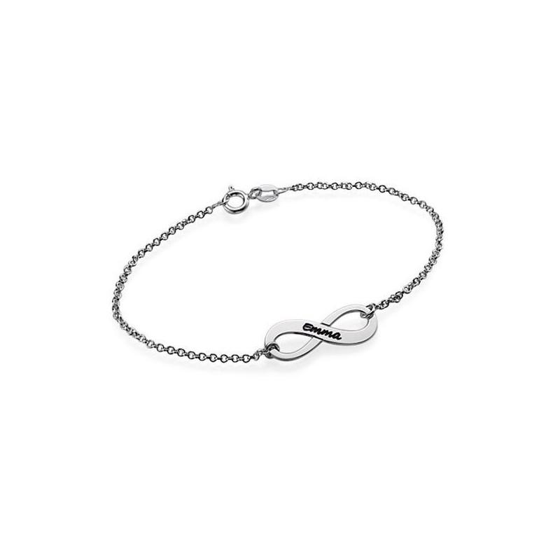 meilleure vente offre ramassé Bracelet Infini Prénom argent - Meli Melow