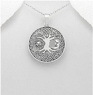 collier lune arbre de vie